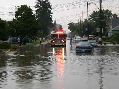 Flooding in Hamilton